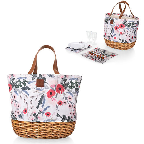 203-20-152 Promenade Picnic Basket - two views with tools