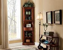 Beautiful Corner Accent cabinet