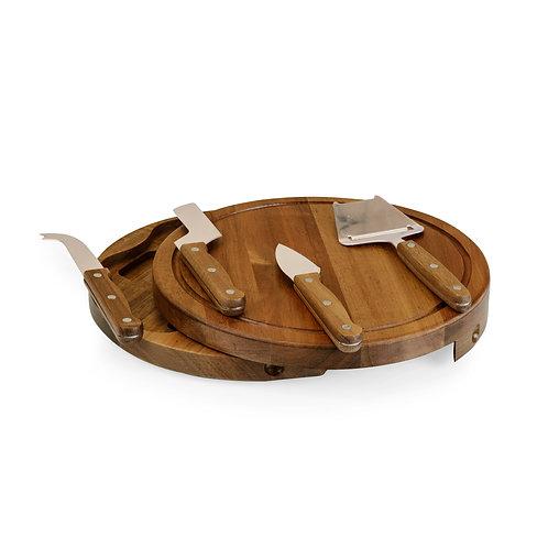 Catalog No. 855-04-512 - Acacia Circo Cheese Cutting Board & Tools Set
