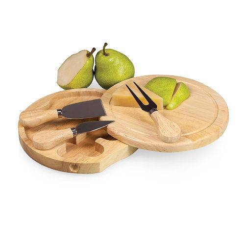 Catalog No. 878-00-505 - Brie Cheese Cutting Board & Tools Set