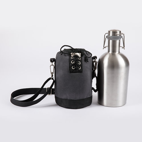 Catalog No.610-82 Insulated Growler Tote with 64 oz. Stainless Steel Growler