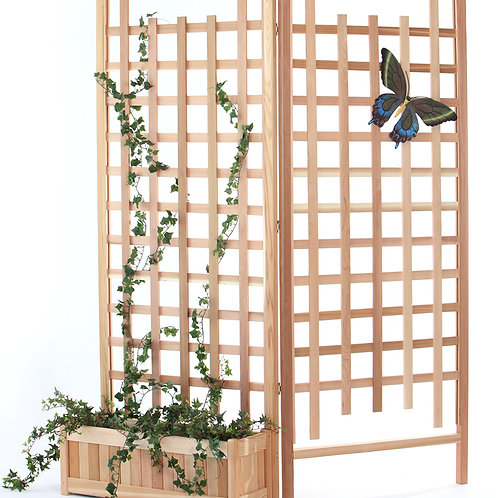3pc-cedar-planter-set-with-trellis-screen-catalog-number-pl30-set