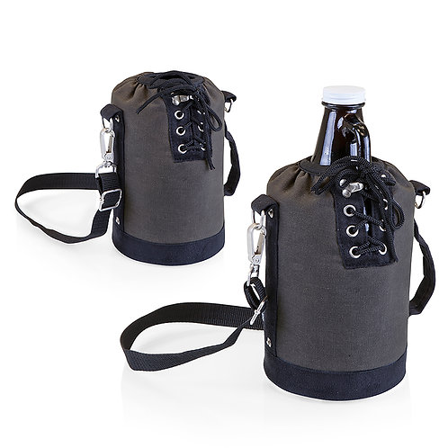 Catalog No. 610-85 - Insulated Growler Tote with 64 oz. Glass Growler - 2  Views