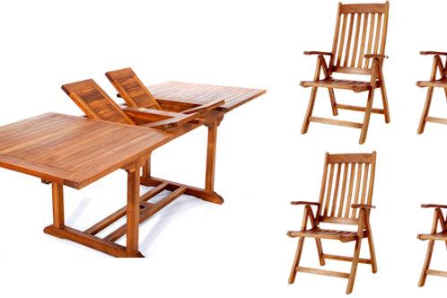 Teak-5pc-oval-folding-arm-chair-set-catalog-number-te70-44