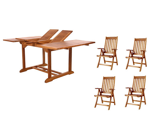 Butterfly-table-5pc-folding-arm-chair-set-catalog-number-td72-44