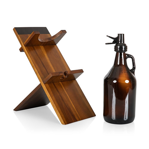 Catalog No. 607-85-512 - Growler Stand with 64oz Glass Growler seperate