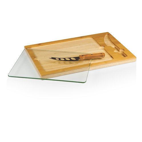 Catalog No. 910-00-505 - Icon Glass Top Cutting Board & Knife Set