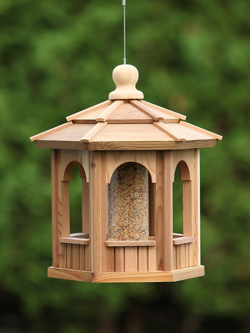 6-sided-hexagon-cedar-bird-feeder-catalog-number-bf12