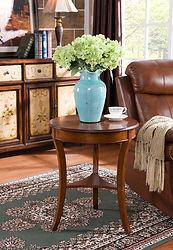 Birch Veneer wood accent table