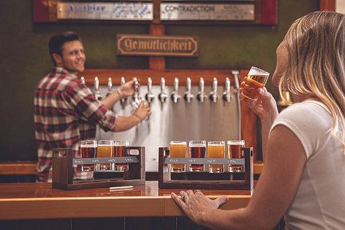 Catalog No. 601-05-512 - Craft Beer Flight Beverage Sampler Display Image