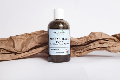 Liquid African black soap (Peppermint )