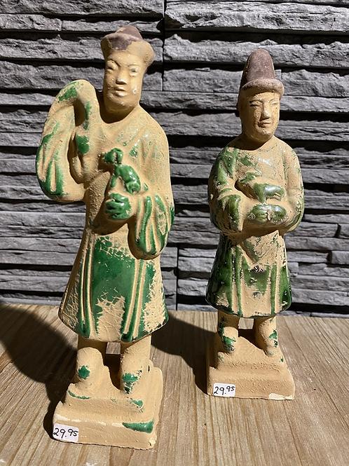 Beeldje terracotta leger