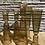Thumbnail: Glazen kandelaar goud - laag