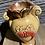 Thumbnail: Dikke gipsen vaas in mooie vintage staat