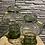 Thumbnail: Groene glazen vaas - hoog
