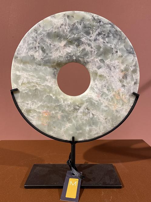 Natuurstenen disc op standaard, middel