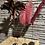 Thumbnail: Decoratieve veer op houten blokje - bruin