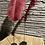 Thumbnail: Decoratieve veer op houten blokje - roze