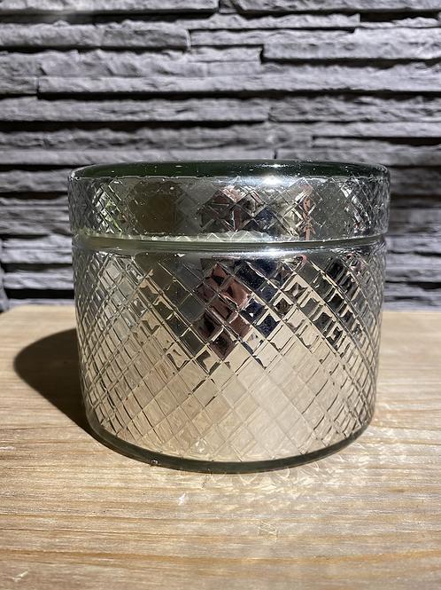 Geurkaars in glazen doosje, zilver, EDG