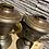 Thumbnail: Set metalen mantelstukken in vintage staat