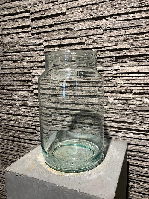 Glazen cilindervormige vaas - groot