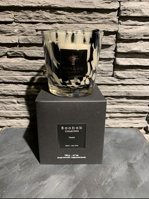 Geurkaars Black Pearls Zwarte Rozen-Gember Max 10