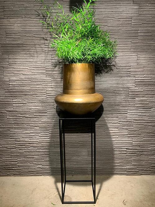 Exclusief te koop bij ons: handgemaakte bronskleurige pot