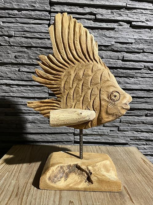 Decoratieve houten standaard - vis