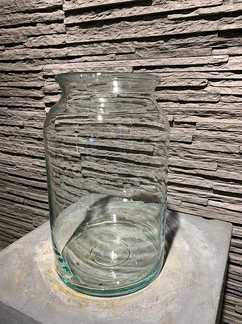 Glazen cilindervormige vaas - klein