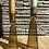 Thumbnail: Glazen kandelaar goud - hoog