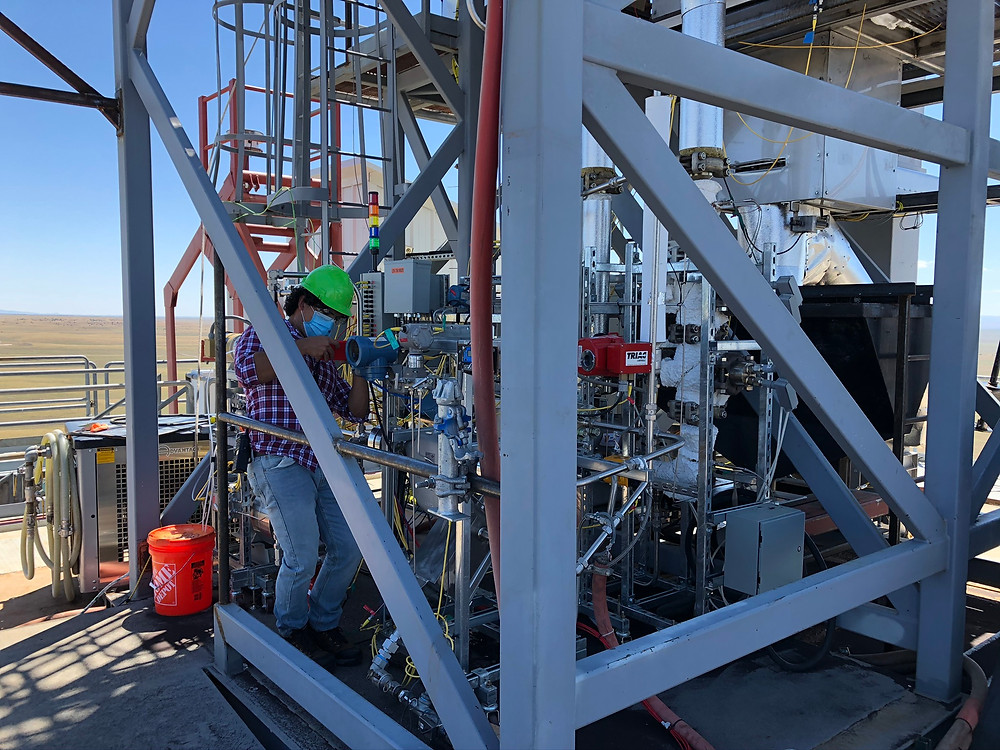 Francisco working on Sandia Labs' CSP system