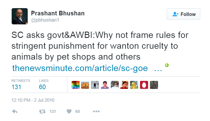 Angel Trust NGO Prashant Bhushan Sir 2nd tweet on the hearing of the PIL in the Supreme Court of India