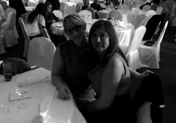 Avec ma maman lors d'un de nos premiers voyages