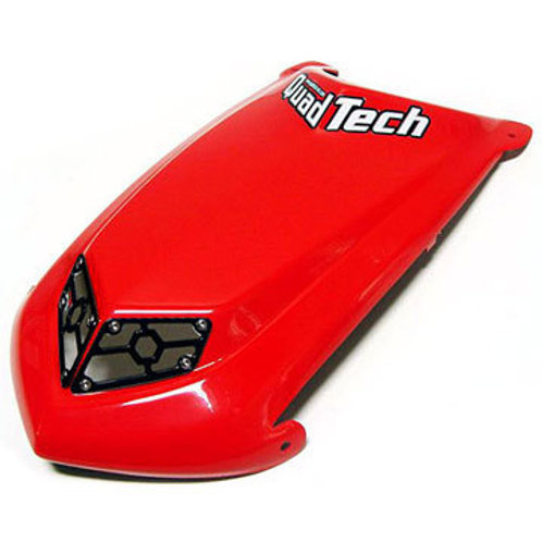Red Quadtech Hood Trx450R