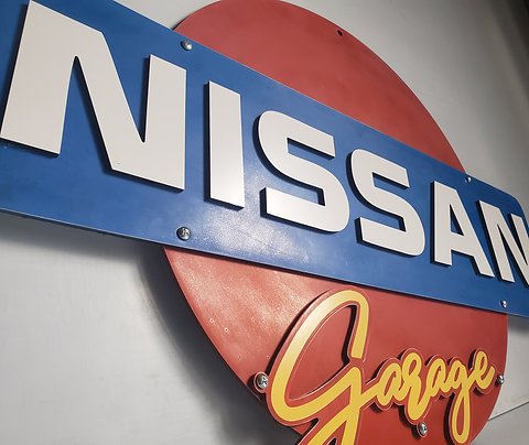 2-foot Nissan Garage Sign