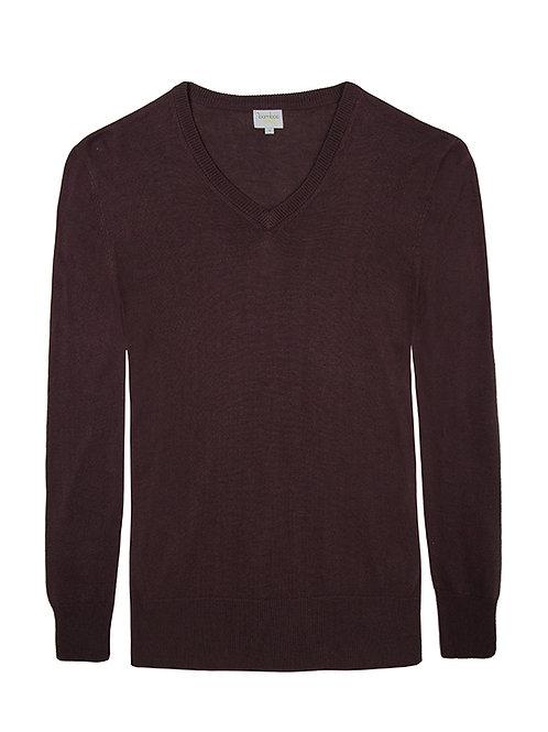Mens V Neck Bamboo, Cashmere & Wool Knit BBKNITM100