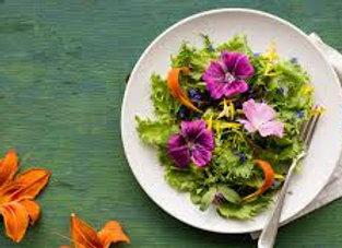 Des fleurs comestibles dans mes salades BIO