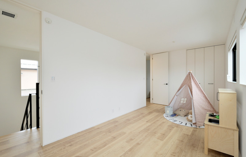2階の子供部屋は将来2分割できるように設計