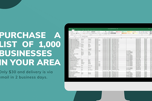 List of 1,000 Businesses in Your Area