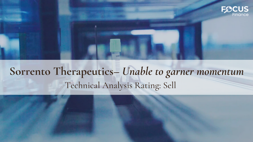 Sorrento Therapeutics – Unable to Garner Momentum