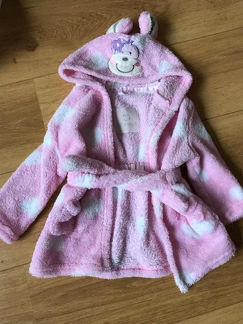Girls Dressing Gown 12-18 months