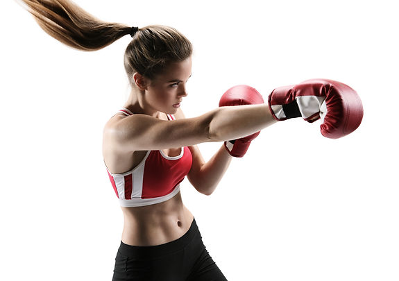 photo set of sporty muscular female brunette girl wearing sports cloth
