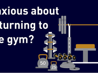 Anxious about returning to the gym?