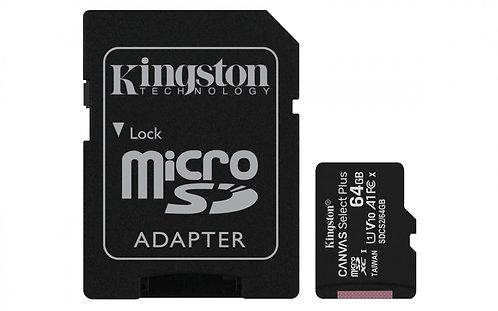 Memoria Micro SD 64GB /Clase 10