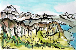 La Tournette from Mont Veyrier