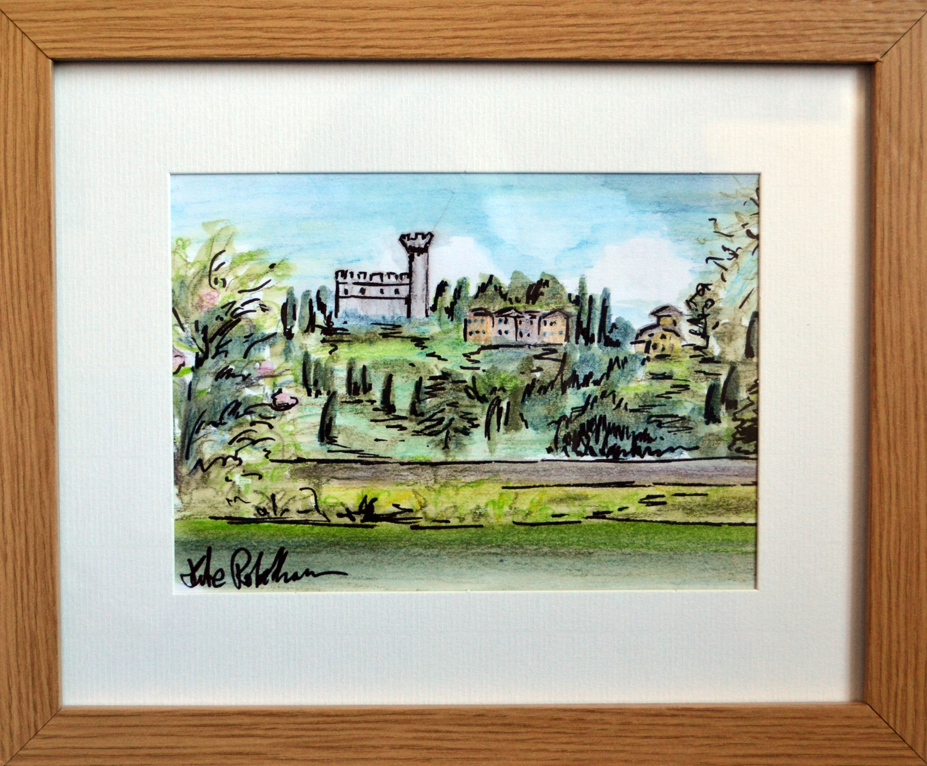 Tuscan Sketch With Frame