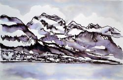 La Tournette In Snow