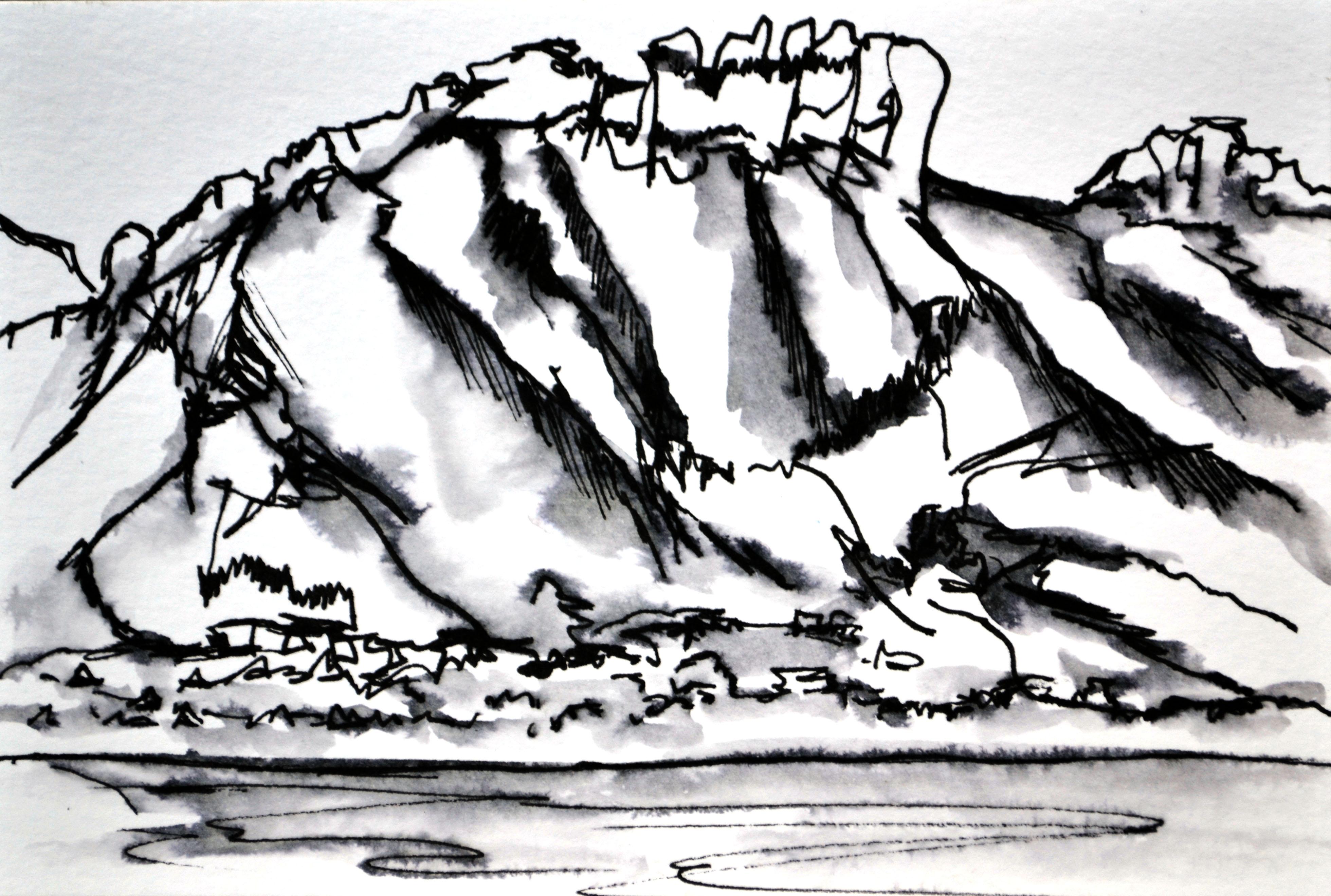 Dent de Lanfon Sketch