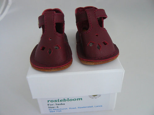 Dark Maroon Play Shoes for Sasha