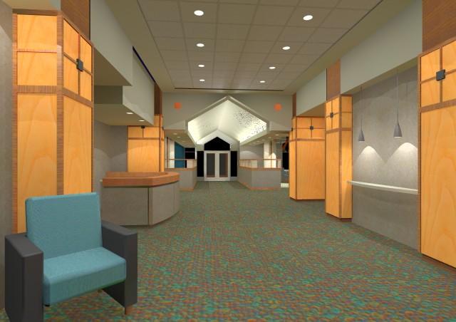 Student Dormitory - 3D Dorm Lobby